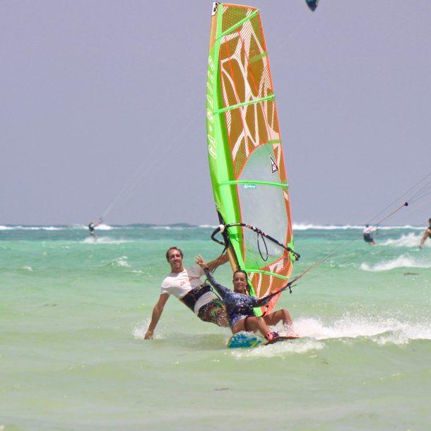 Kite and windsurf fun